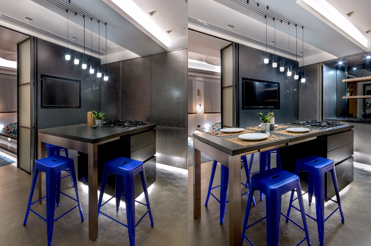 Kitchen and Dining Area in Soho Residential