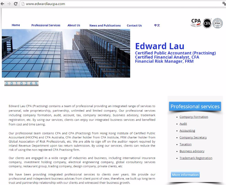 Our official website: www.edwardlaucpa.com