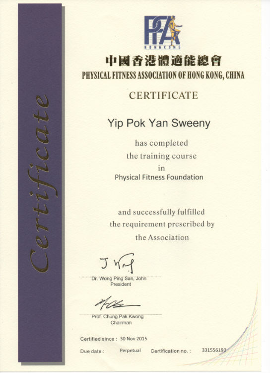Certified Foundation Physical Fitness