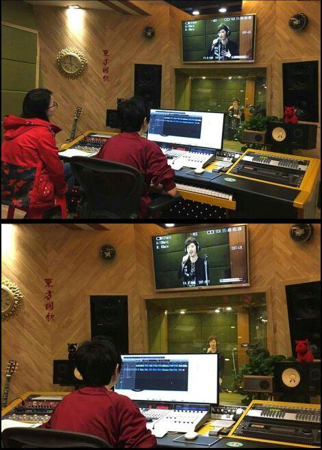 湖南衛視錄音室工作
