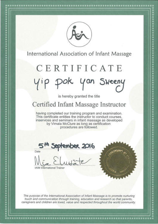 Certified Infant Massage Instructor