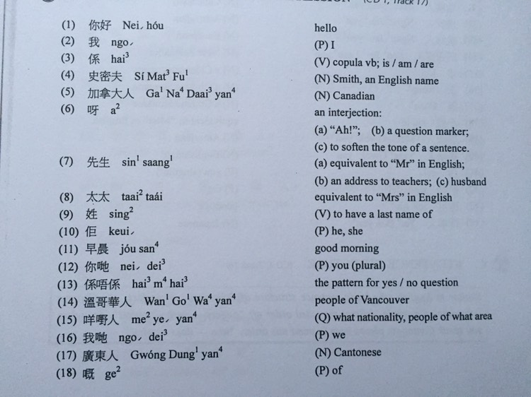 Material for non-Chinese speakers