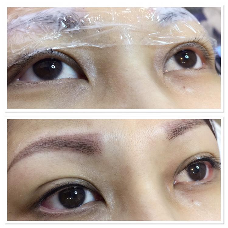 眉毛補色,自然內眼線