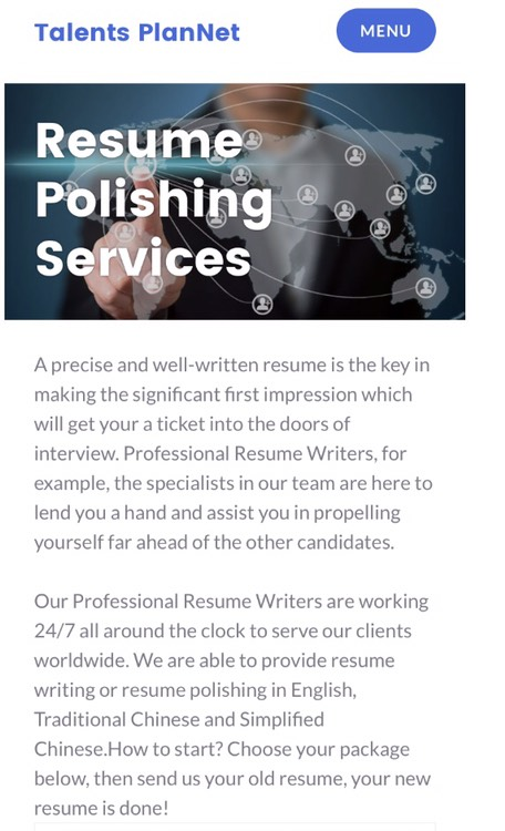 Resume Polishing Services by ex HSBC HR Mgr