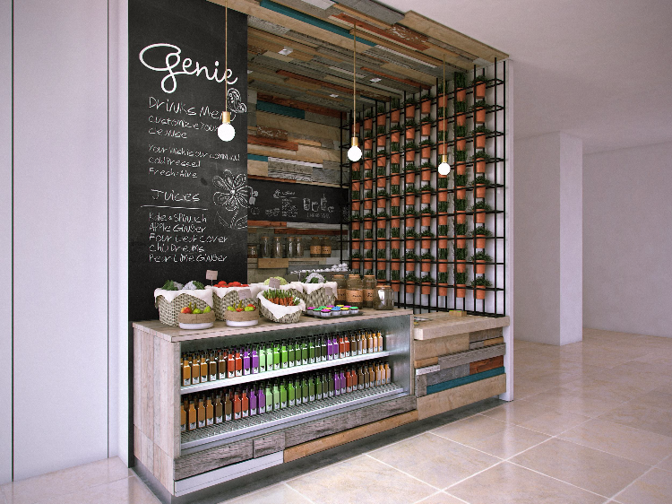 HK international financial centre -genie juice bar