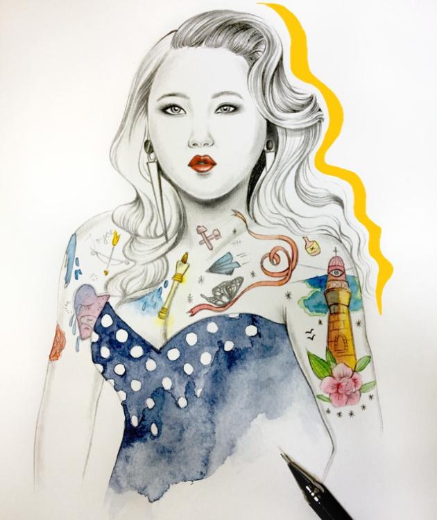 個人創作-香港歌手鄭欣宜肖像畫