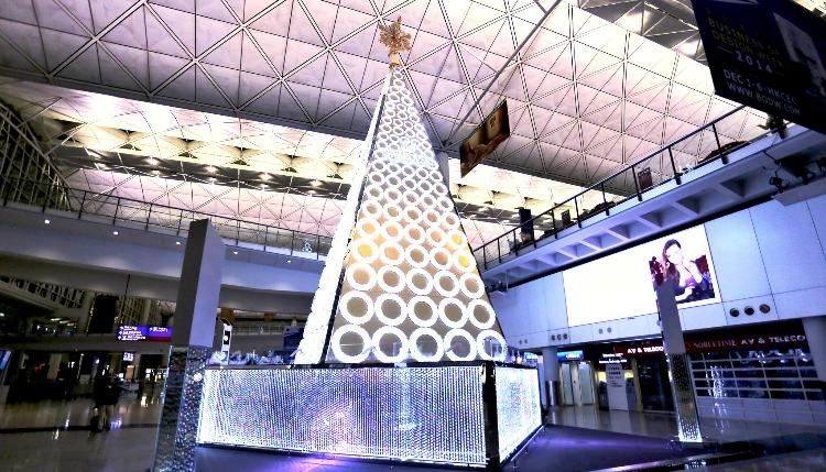 Swarovski Christmas Christmas Tree @ Airport