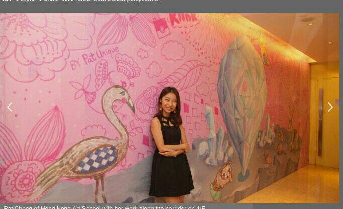 牆壁繪畫手繪 @ k11 Mall