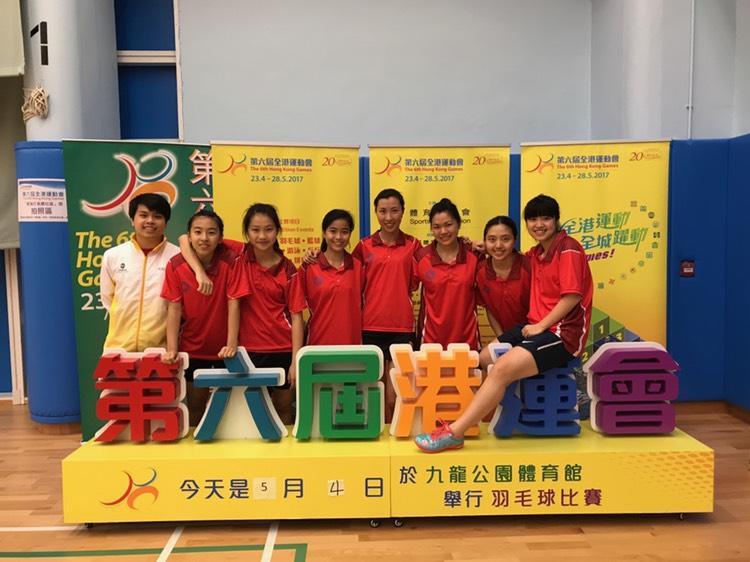 (左1) 帶隊參加第六屆全港運動會