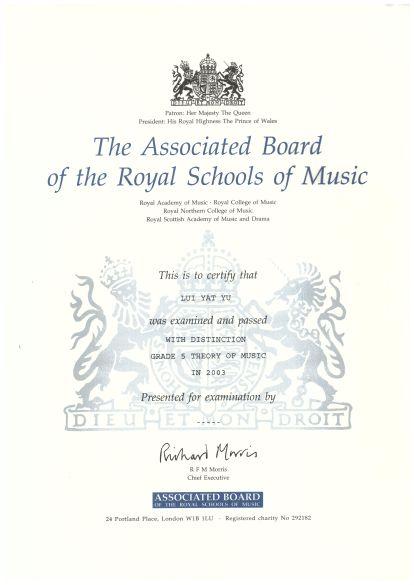 Grade 5 Theory of Music