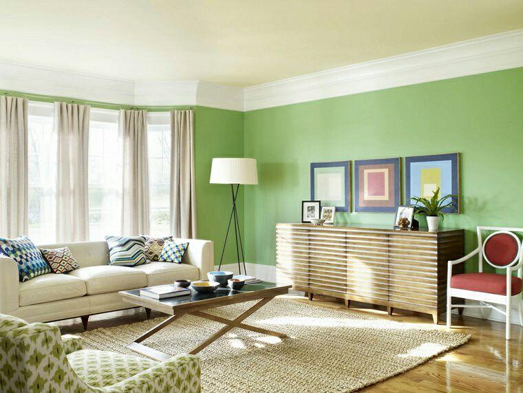 簡約明亮,採用天然光投射空內加草綠色牆身,型造田源鬱蔥感覺