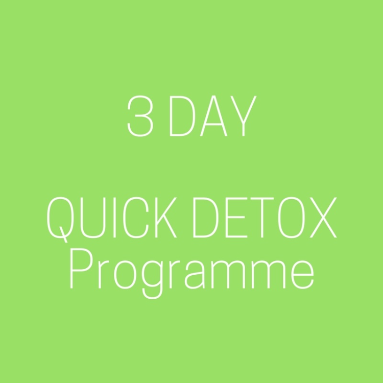 Quick Detox for a good cleanse in 3 days!