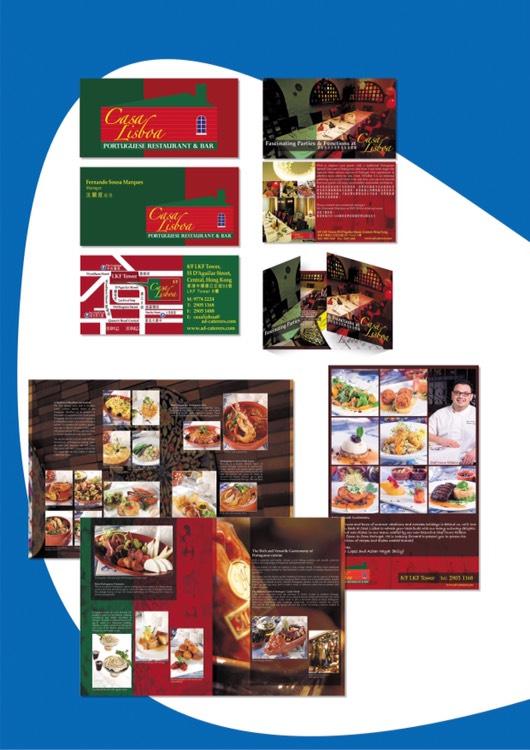 葡萄牙餐廳印象設計 : 餐廳商標設計、人像/食物攝影、餐廳咭片、優惠券、傳單、餐桌墊、主菜單等...