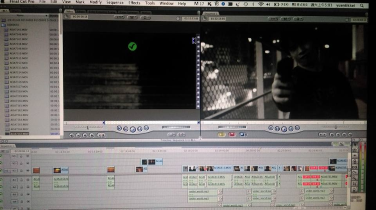 實驗短片剪接,同時負責編劇及導演工作