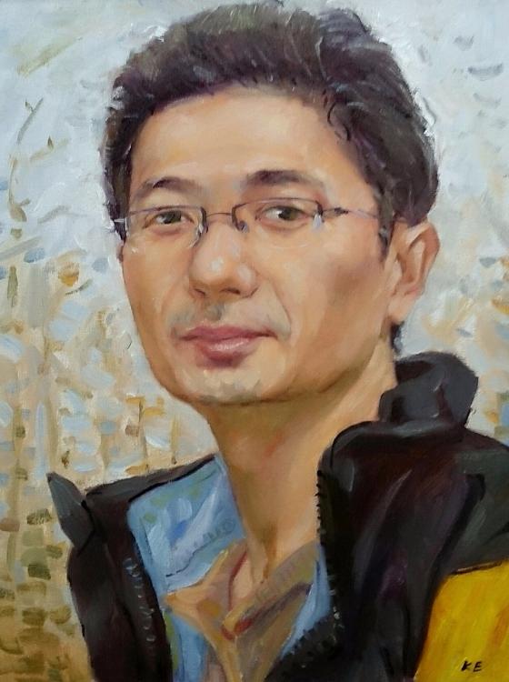 柯銘峰油畫自畫像