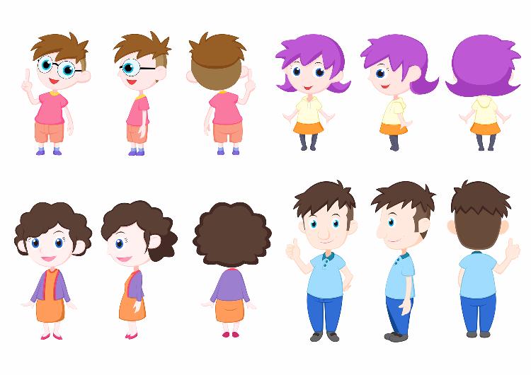 兒童動畫人物設定