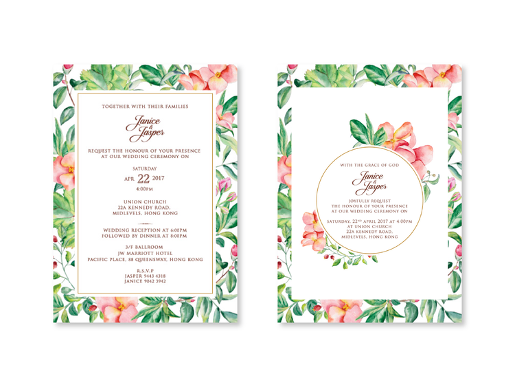 Wedding Invitation design + Calligraphy