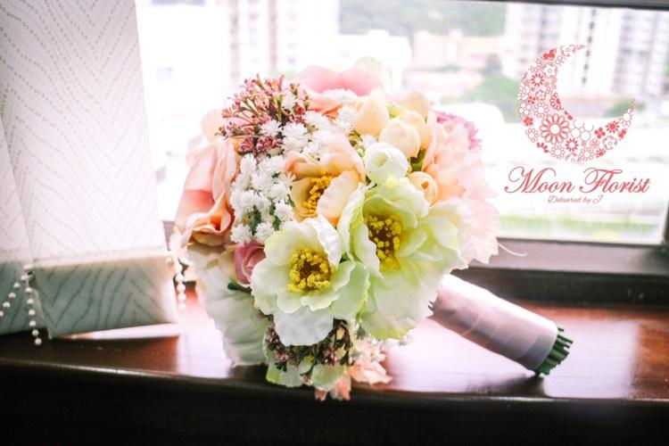 絲花花球 👰🏻  最適合於婚禮上用作於拋花球環節