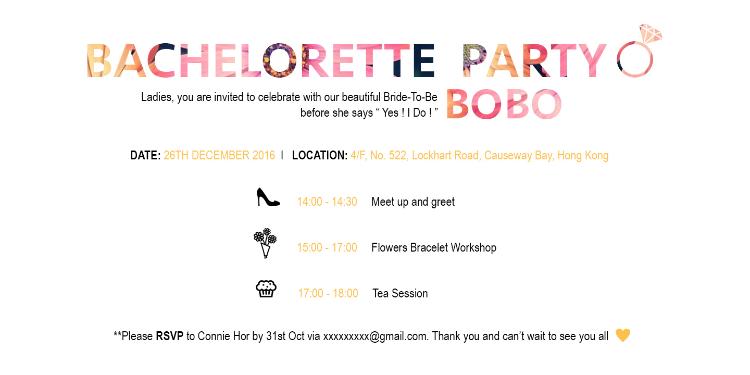 Bachelorette Party Invitation Card Design