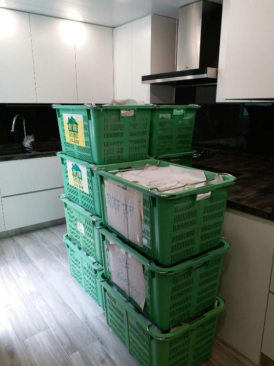 包裝雜物之膠籃