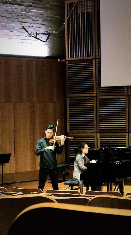 Last violin recital in Sydney Recital Hall