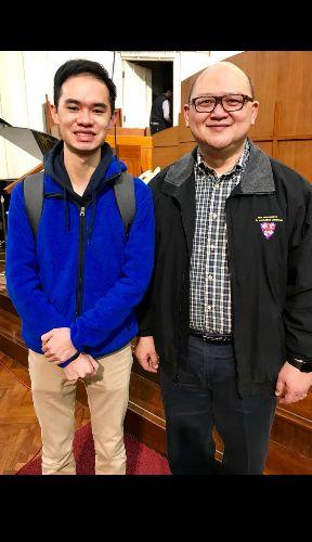 范老師與伯樂音樂學院首席鍵盤樂導師李恩添博士之合照