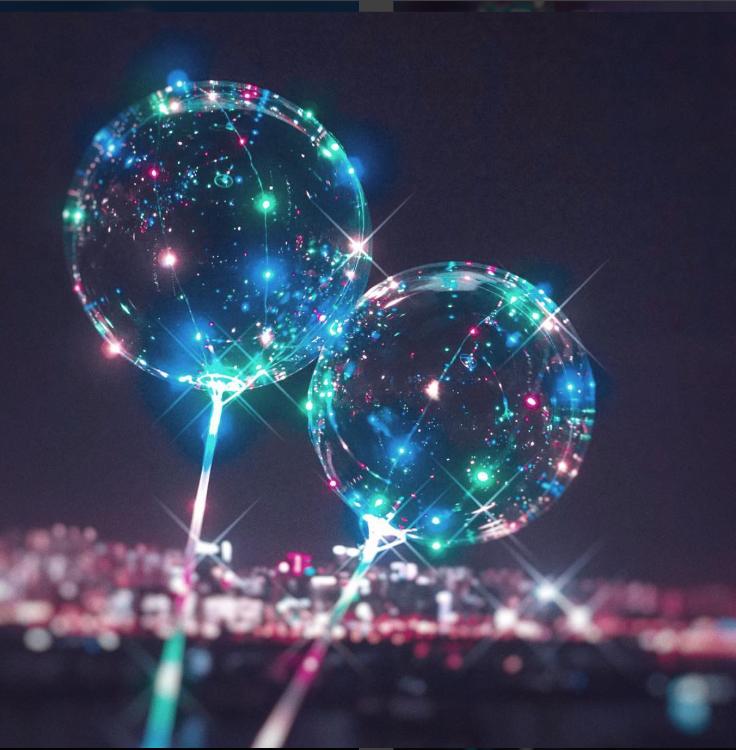 發光氣球手持款 (成份為空氣 絕對不會爆炸!)