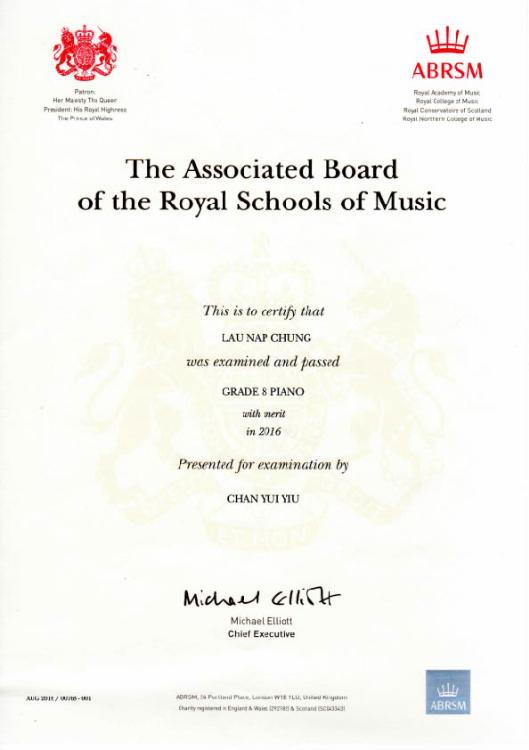 ABRSM Piano Grade 8 Merit