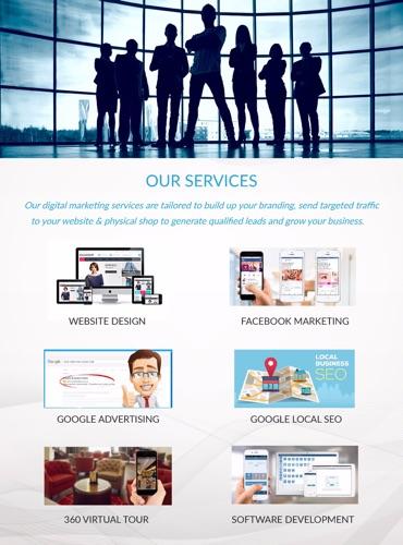 我們的服務, 網頁設計, 網頁開發, 和其他 website design development