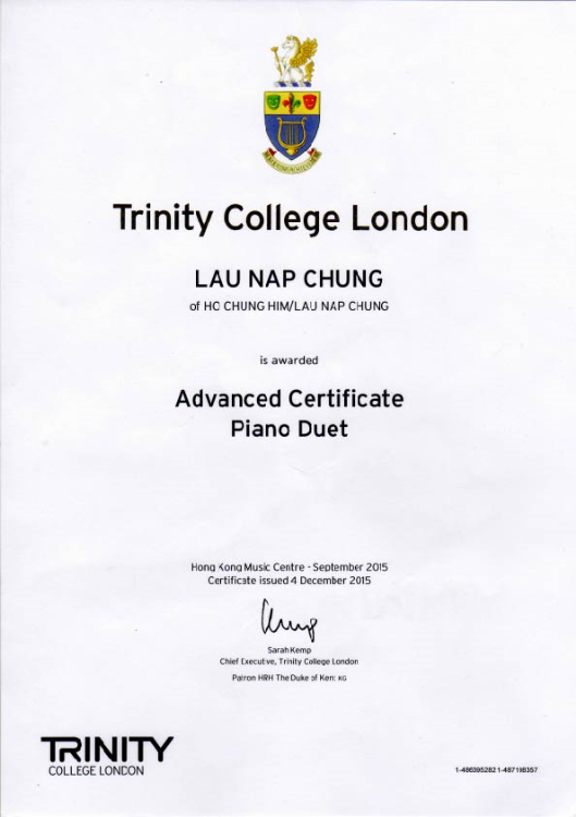 Trinity College London Advanced Piano Duet