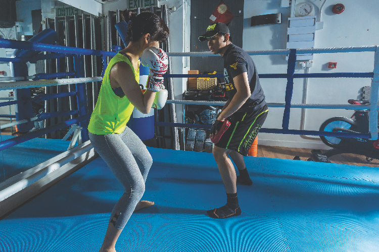 You can choose to have one-on-one boxing training