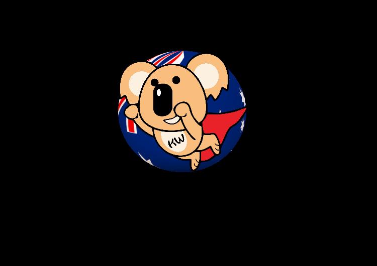為Kw姊妹澳洲代購服務設計logo,設計元素有澳洲的樹熊及國旗及地球效果。寓意產品能送到世界各地。