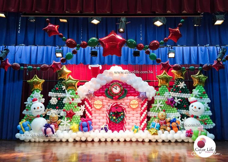 聖誕節氣球場地佈置