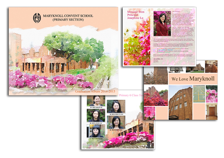 Primary school graduation book design