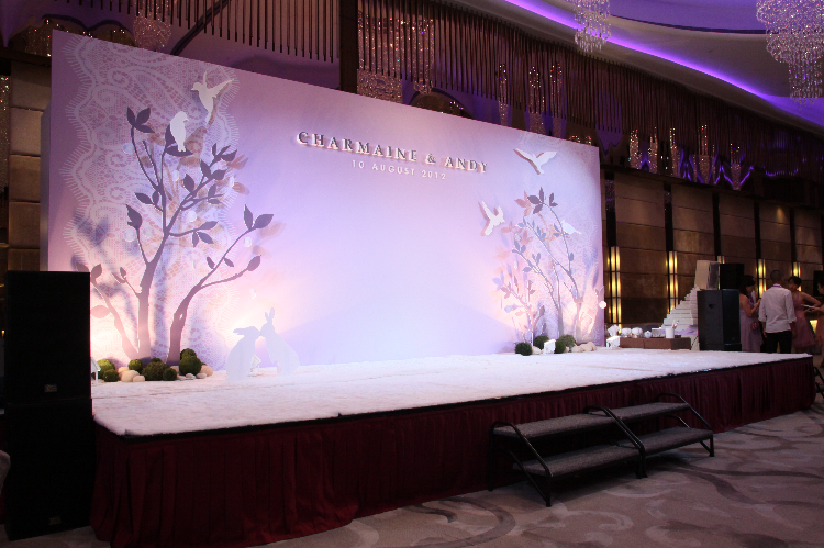 Backdrop design at the Harbour Grand Hotel