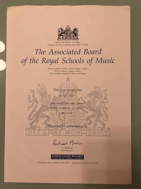 英國皇家音樂學院八級樂理證書