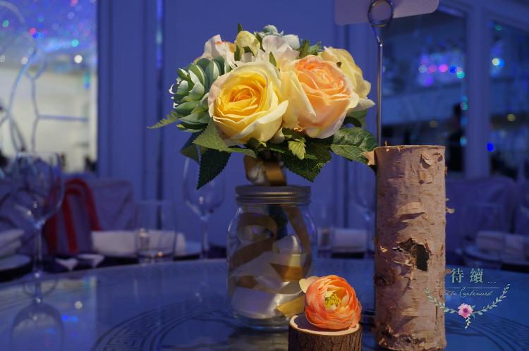 婚宴席位花球設計 Table flower design