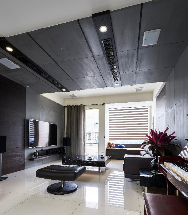 現代風格-木皮與水泥板交織成現代風格