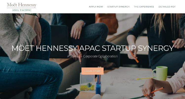 Startup Company website