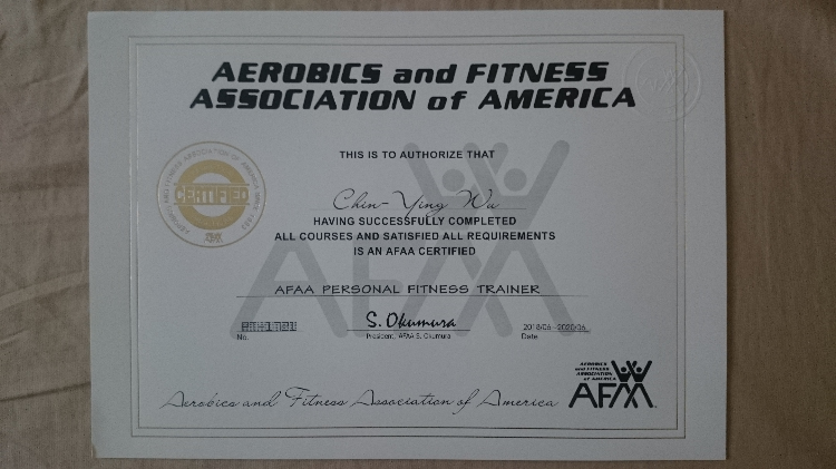 AFAA personal fitness trainer